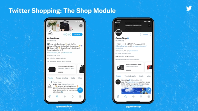 Twitter is to launch a US e-commerce shop from profiles