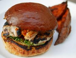Chicken-Burger-with-Sweet-Potato-The Table Caf; Restaurant and Bar